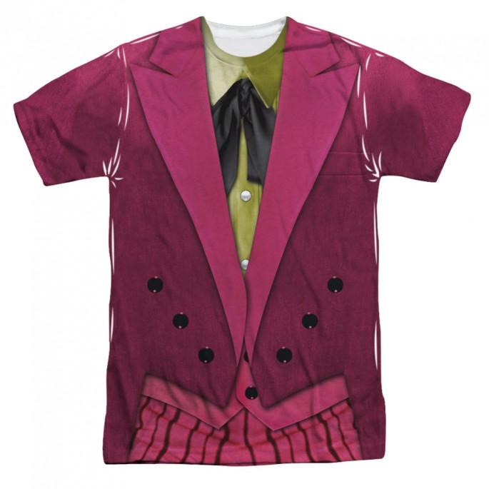 Batman Classic TV Joker Costume Sided Sublimation Adult T-shirt