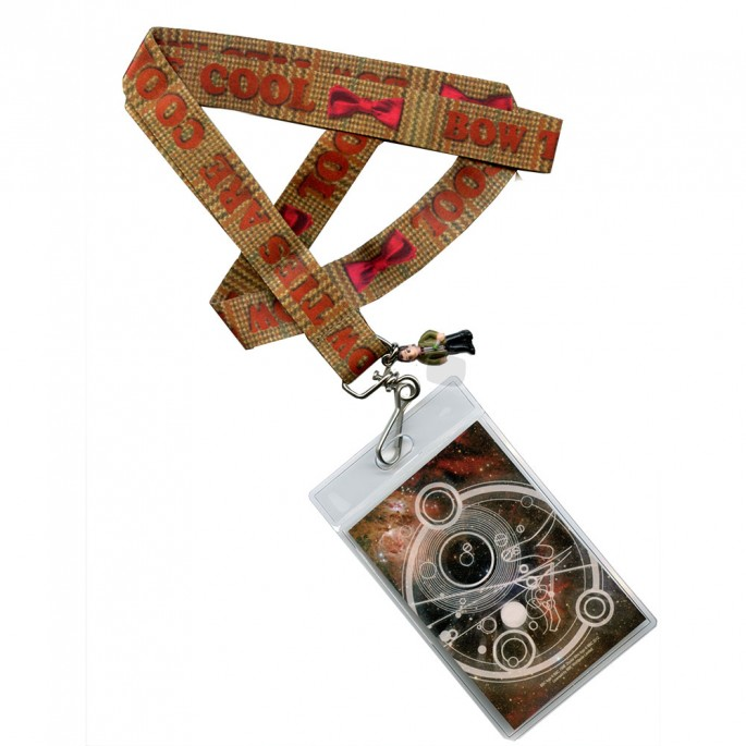 Doctor Who Bow Ties Are Cool Lanyard with 2D Matt Smith Charm