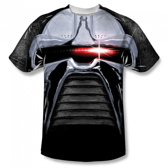 Battlestar Galactica Cylon Stare One Side Adult T-Shirt
