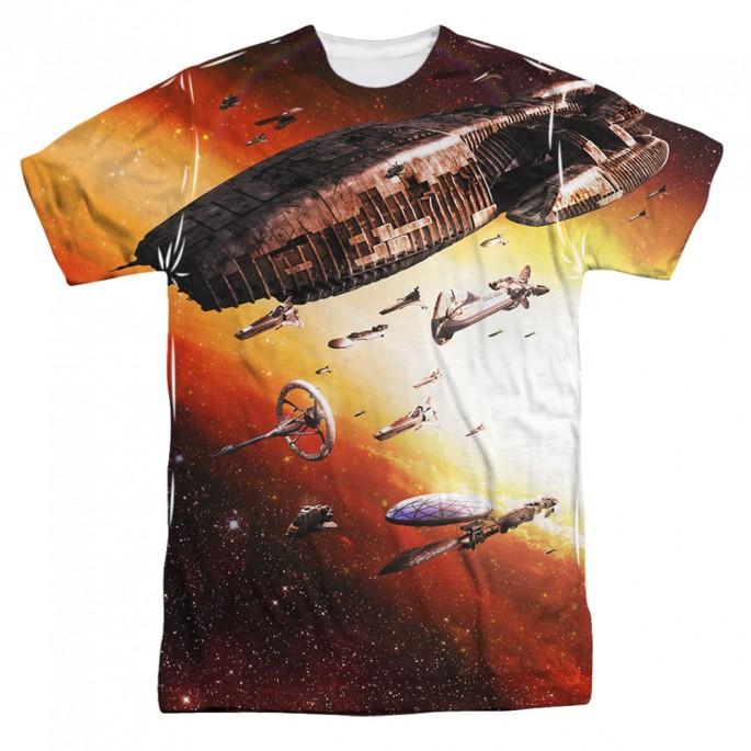 Battlestar Galactica Fleet of Humanity One Side Adult Sublimation T-Shirt