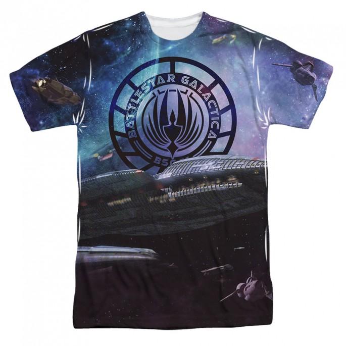 Battlestar Galactica Star Cruising One Side Adult Sublimation T-Shirt