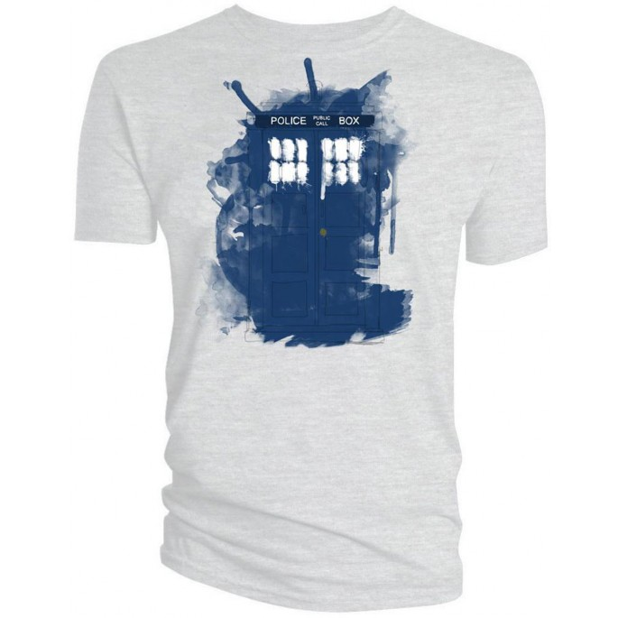Doctor Who Modern Art Tardis Adult T-Shirt