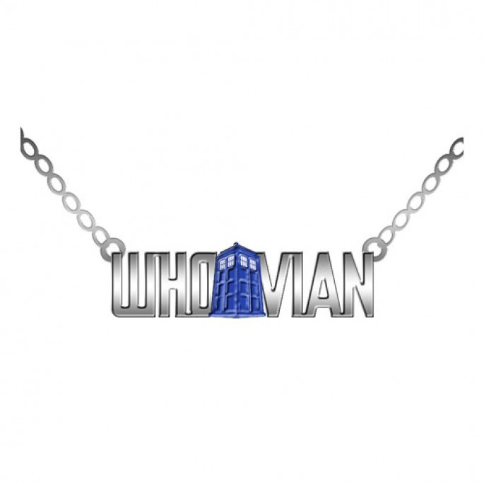Doctor Who Whovian Pendant with TARDIS Necklace