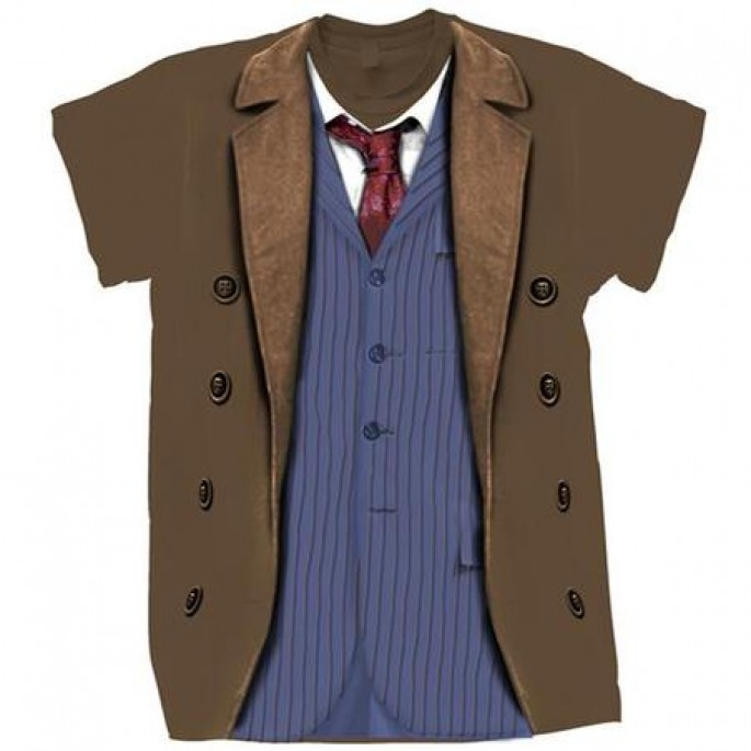 Doctor Who Tenth Doctor Outfit Adult T-Shirt