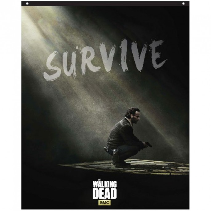 The Walking Dead Rick Survive 29in x 38in Banner