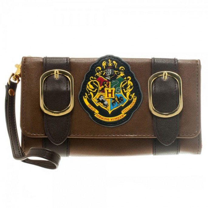 Harry Potter Hogwarts Crest Tri-Fold Satchel Wallet