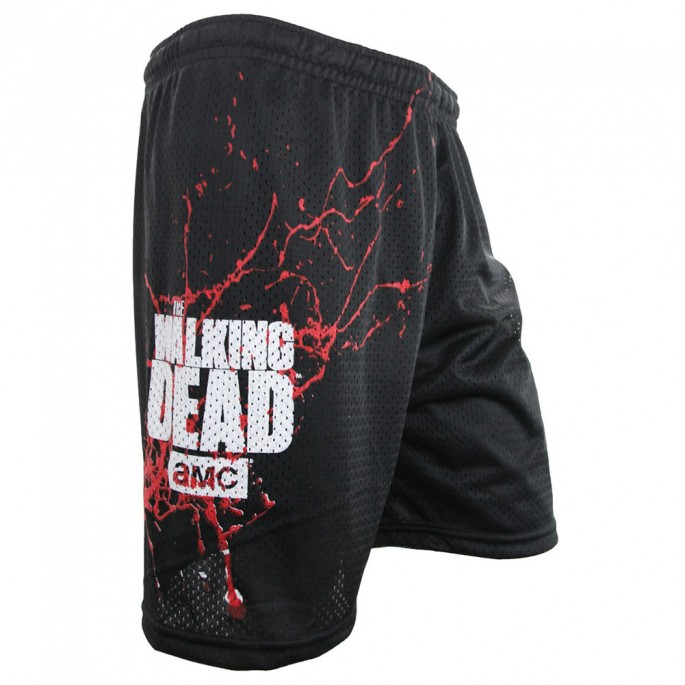 The Walking Dead Blood Splatter Mesh Shorts