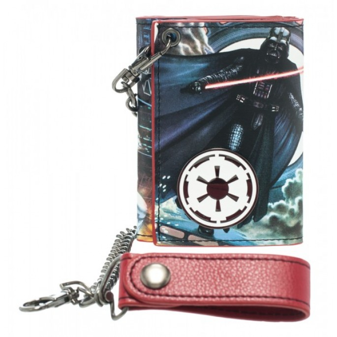 Star Wars Darth Vader Metal Badge Chain Tr-Fold Wallet