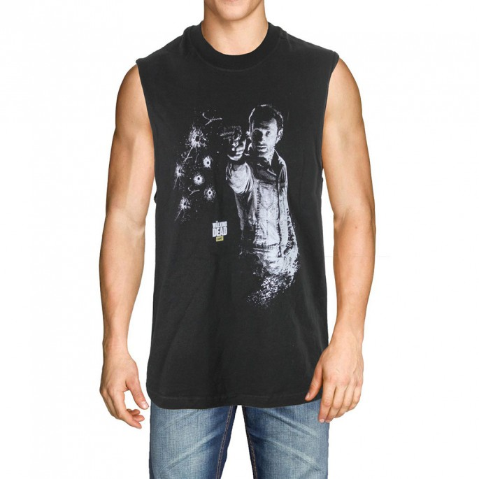 The Walking Dead Rick Shooting Sleeveless T-Shirt