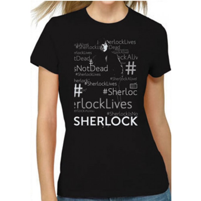 Sherlock Lives Black Women's Juniors T-Shirt