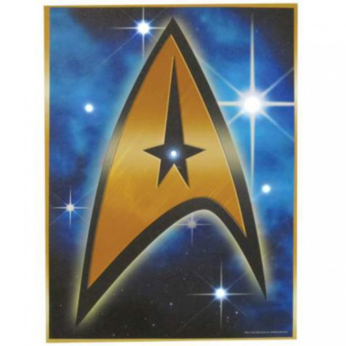 Star Trek Insignia Lighted Canvas Wall Art 12x16