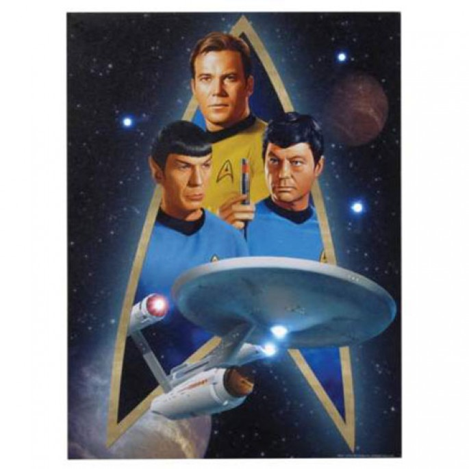 Star Trek Crew Lighted Canvas Wall Art 12x16
