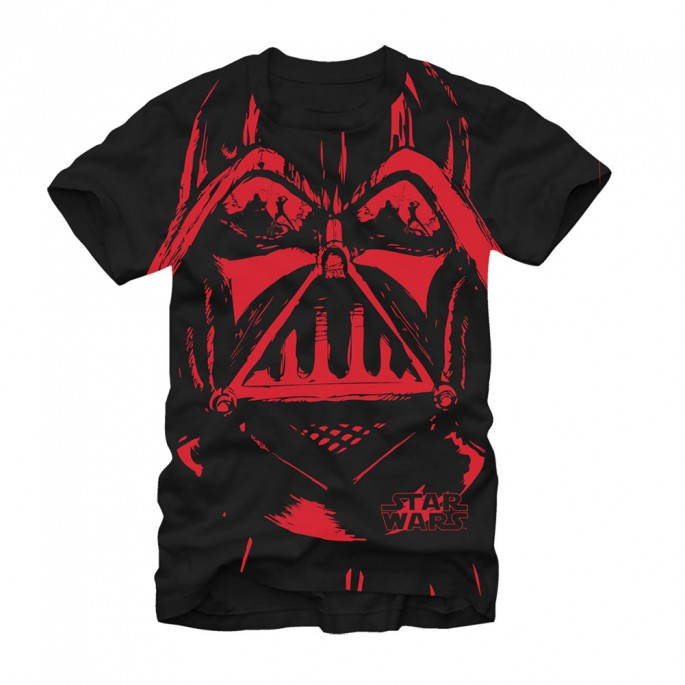 Star Wars Vader Duelling Reflection Adult T-shirt