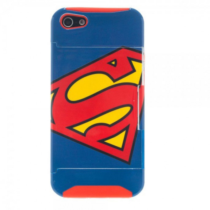 Superman iPhone 4/4s Kickstand Phone Case with Card Slot