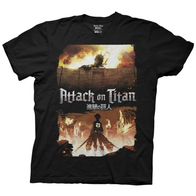 Attack on Titan Keyart Adult T-shirt