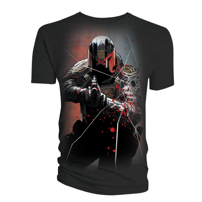Judge Dredd Movie Underbelly Comic Art Adult T-shirt