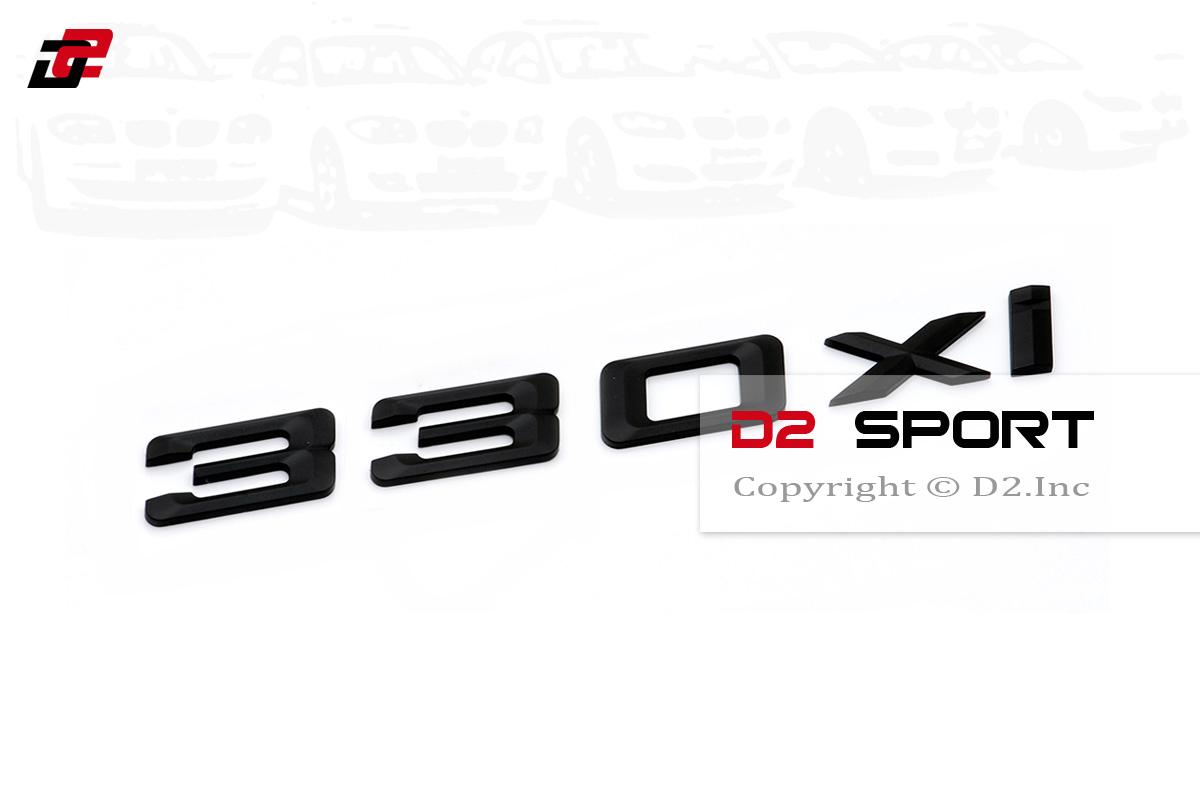 Matte Black Trunk Rear Emblem Badge Letters for BMW E90 E92 E93 3-Series 330xi