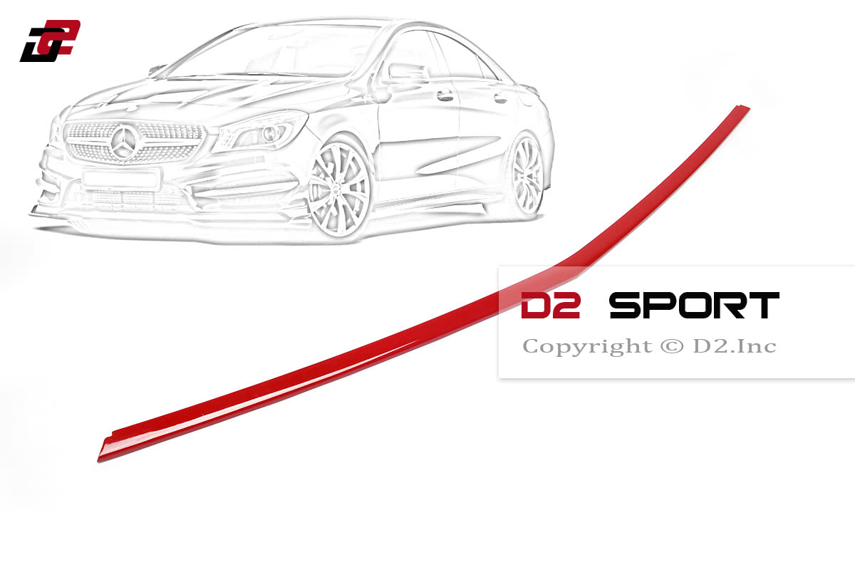 Painted Red Front Bumper Lip Spoiler Cover for Mercedes W117 CLA AMG Sedan