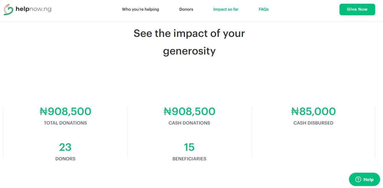 HelpNow impact, thus far