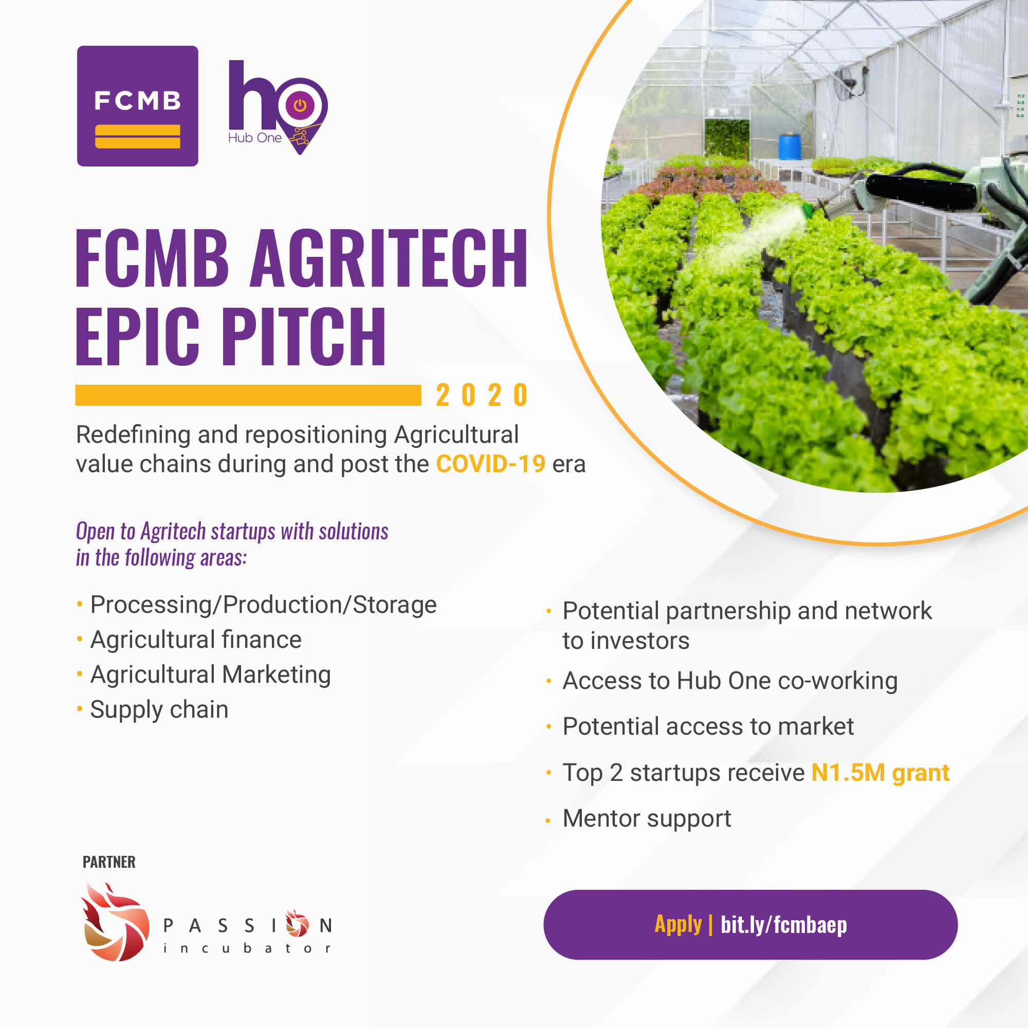 Agritech EPIC Pitch by FCMB and Passion Incubator