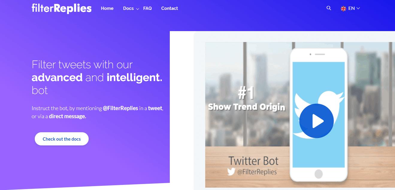 filter replies homepage