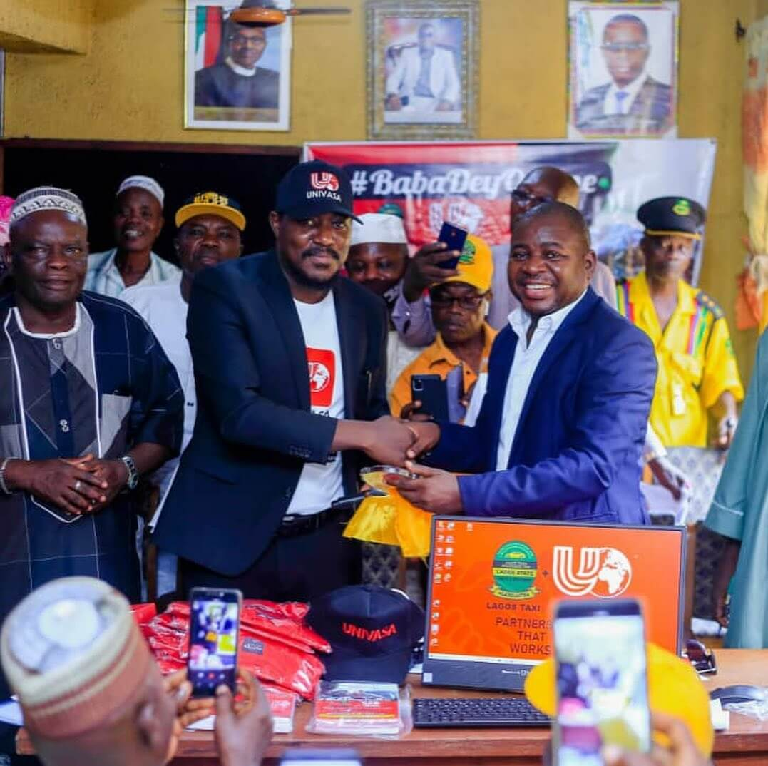 Ben Adeniyi, CEO of UNIVASA Nigeria Limited, and Otunba Omolekan Taiwo, President of Lagos State Taxi Drivers Associaiton