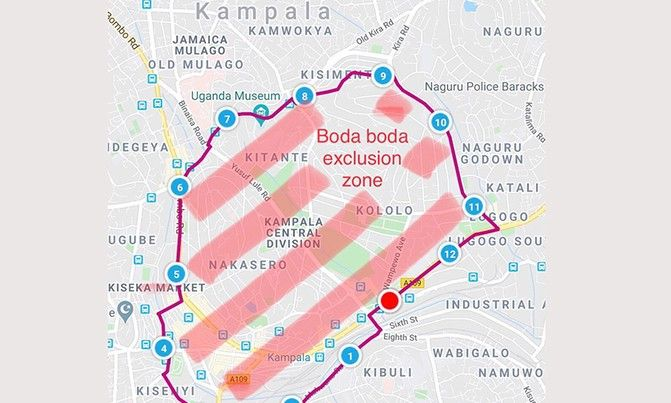 Boda Boda Safe Zone in Uganda