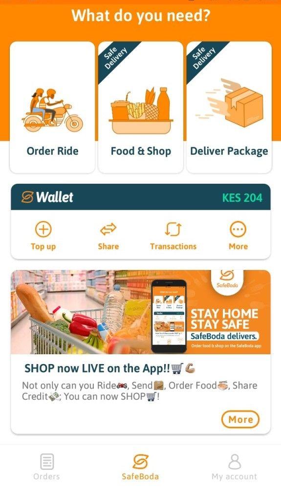 SafeBoda app screenshot