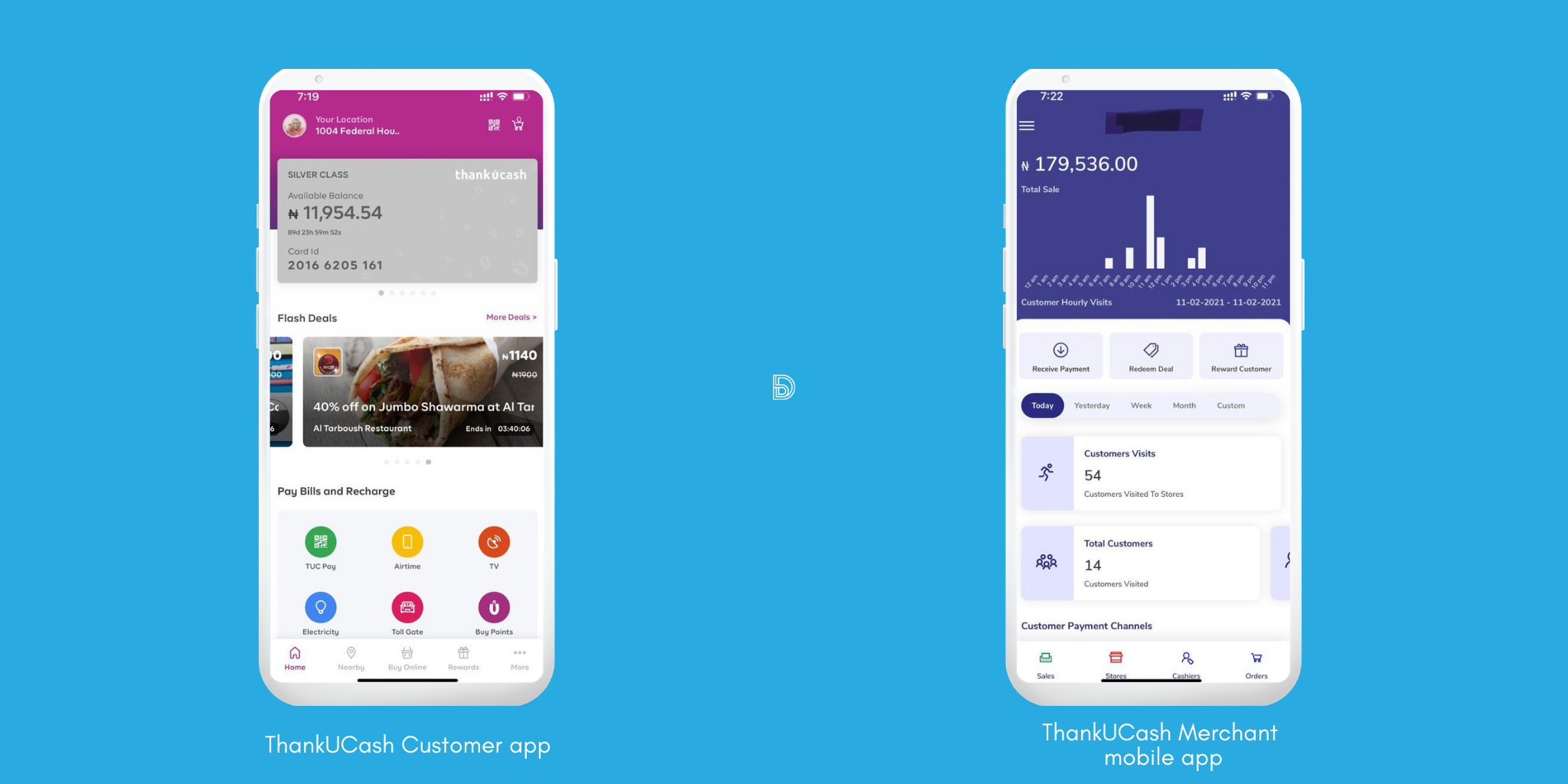 ThankUCash Customer and Merchant Mobile app