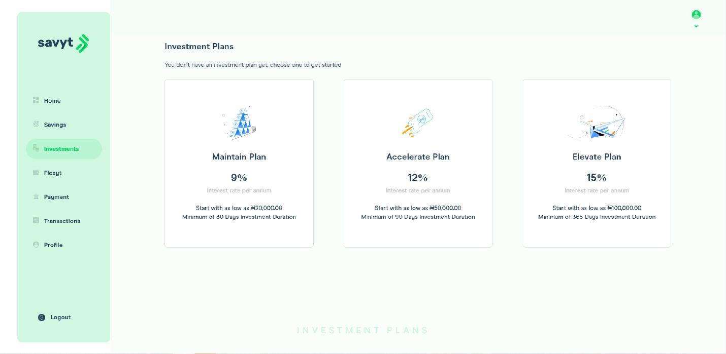 Savyt investment plan