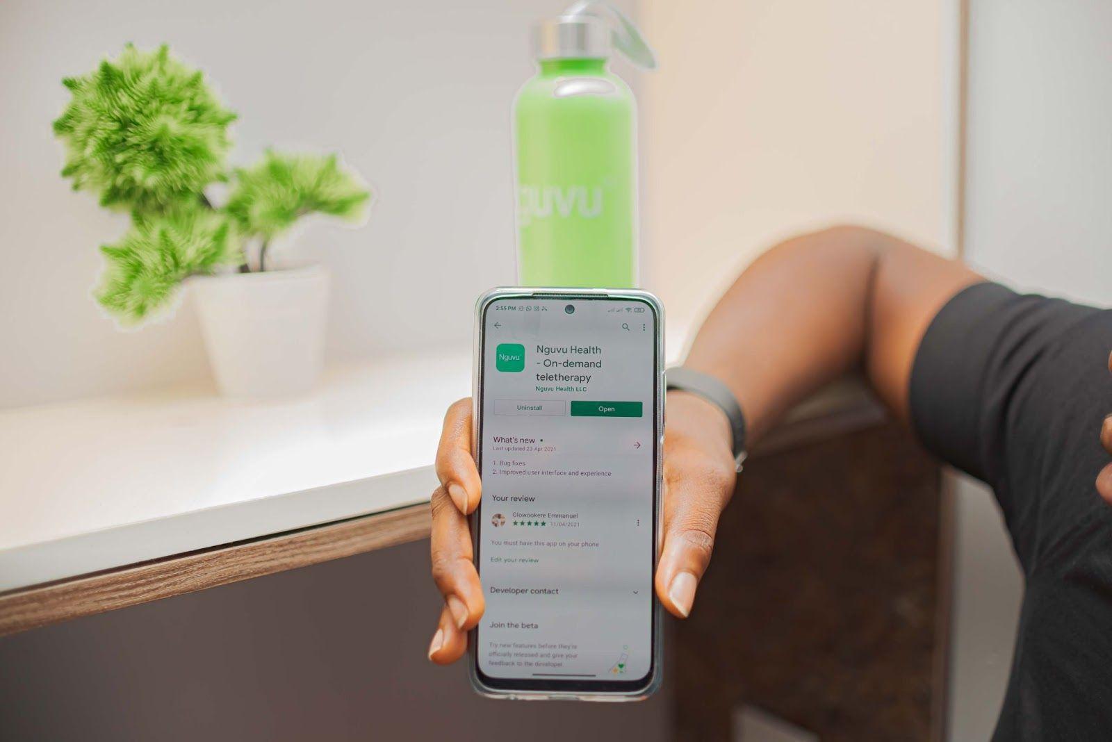 Nguvu Health App Download screen