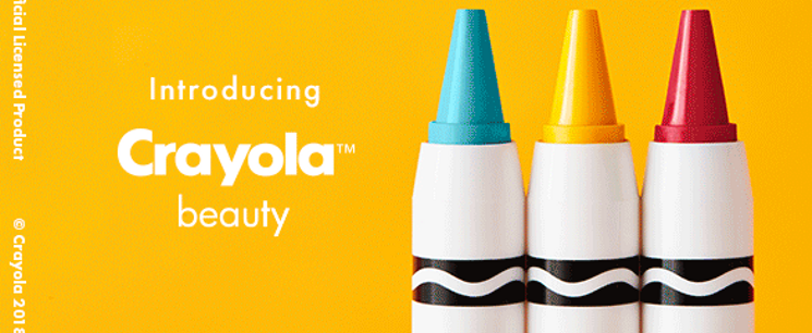 crayola releases line of makeup in collaboration with asos