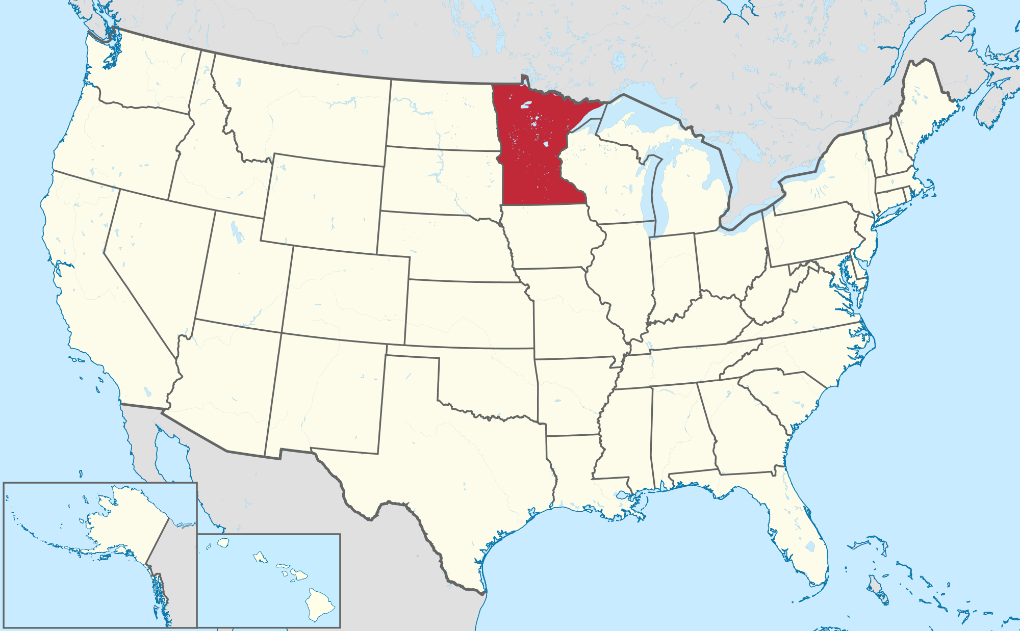 Minnesota Is The Best State To Raise A Family In Study Says - Minnesota in the us map