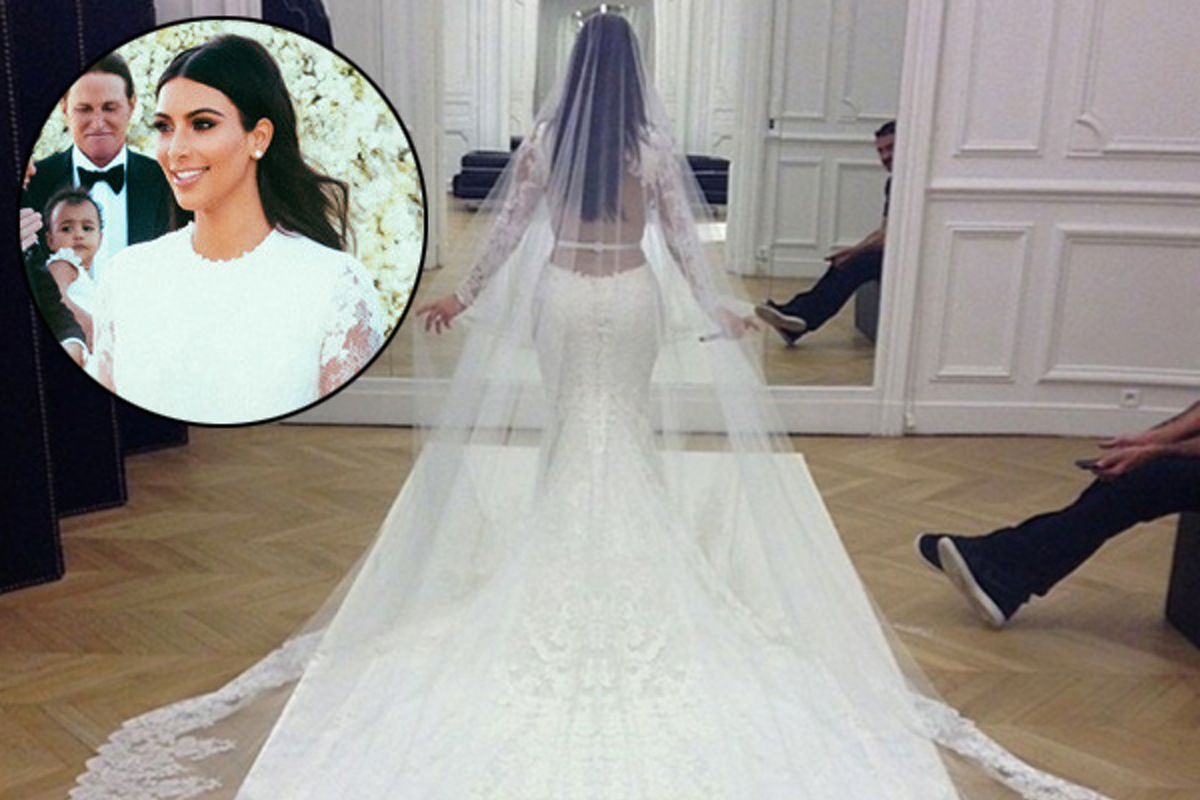 15 celebrity wedding dresses youll love to envy 2 kim kardashian ombrellifo Image collections