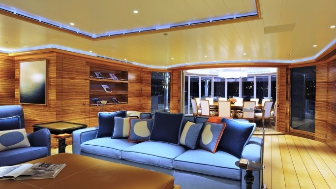 Interior Of The Rising Sun Yacht