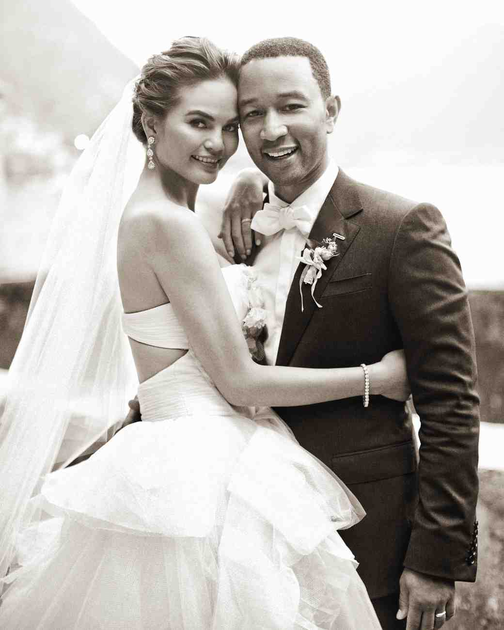15 celebrity wedding dresses youll love to envy 6 chrissy teigen ombrellifo Image collections