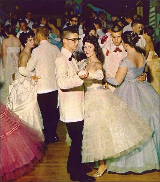 5c847e0975c 1950s  This is when the prom industry as we know it takes off. Gowns are  often sleeveless