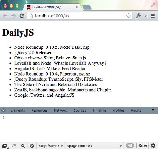 AngularJS feed rendering
