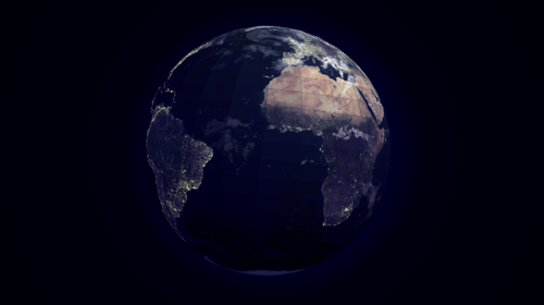 CSS 3D Earth