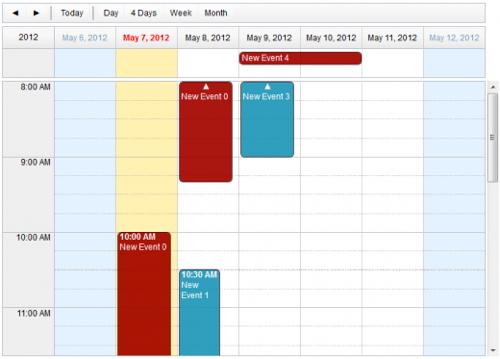 Dojo calendar