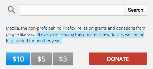 Firefox donations