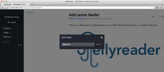 Jelly add feed