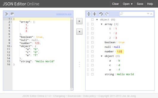 JSON Editor Online
