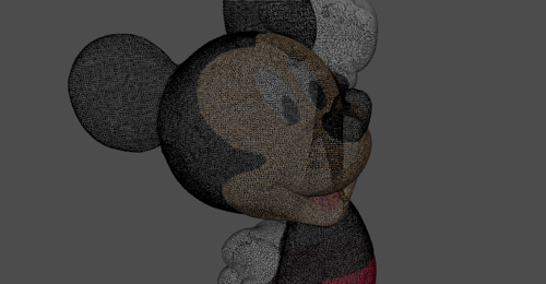 Mickey point cloud
