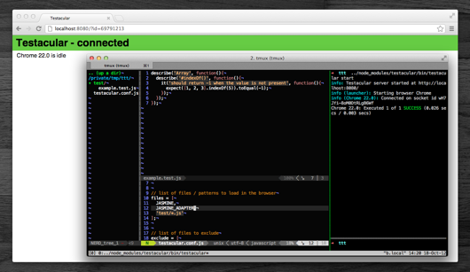Testacular running on a Mac with Chrome