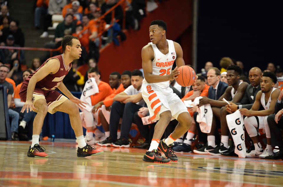 Tyus Battle Scores Career High 21 Points In Syracuse S 76 53 Win