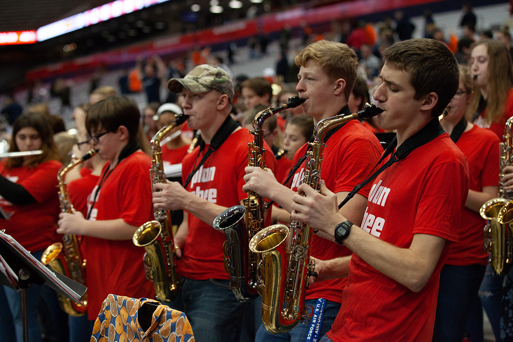 This local high school band plays at Syracuse basketball games over