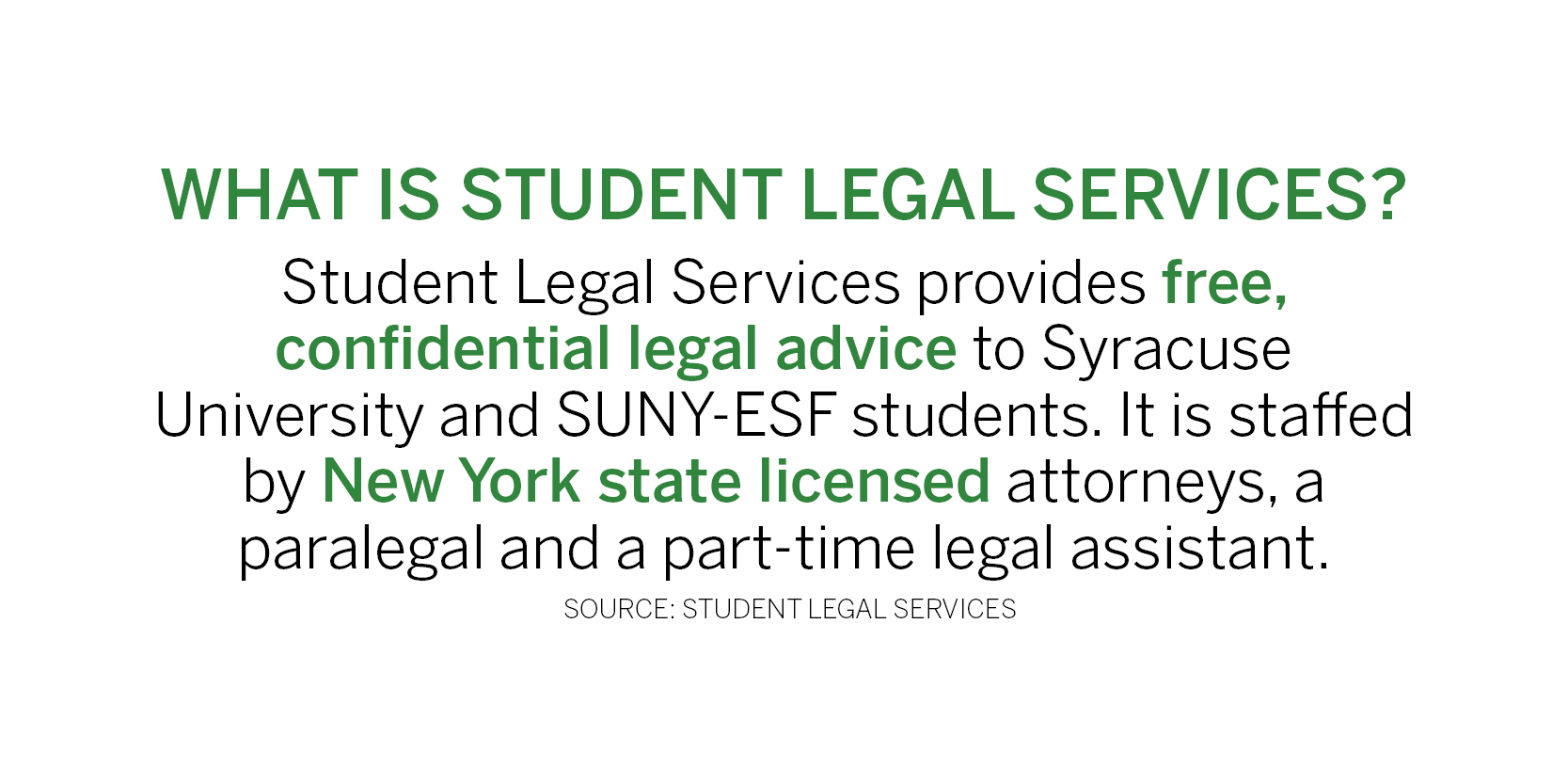 SA, Student Legal Services internship to assist students in