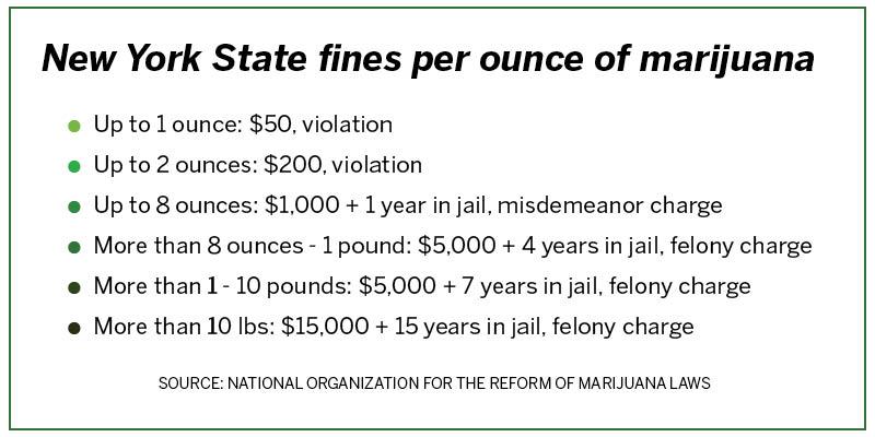 "Experts say New York's marijuana decriminalization ""falls"