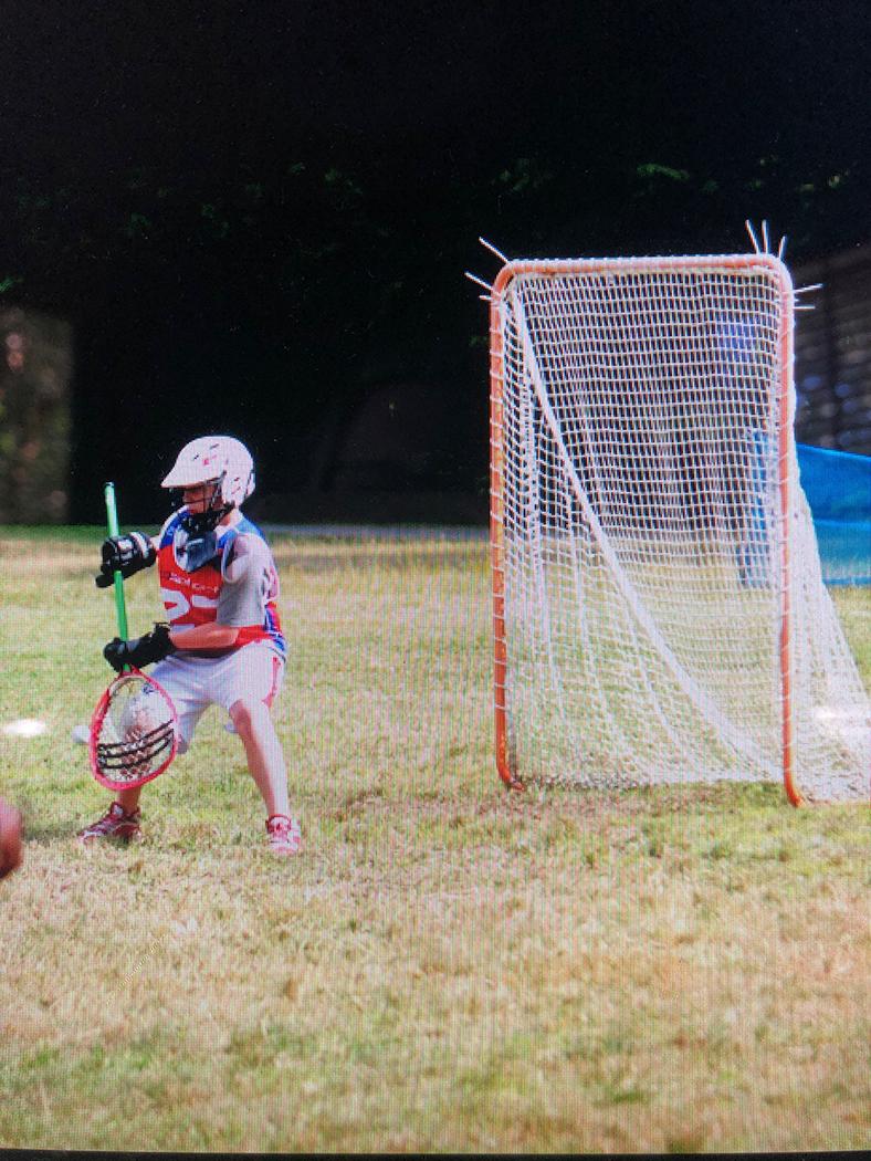 Jimmy McCool plays youth lacrosse.